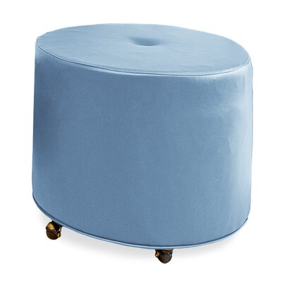 Mondo 24 Upholstered Round 1-Button Ottoman Upholstery: Sky