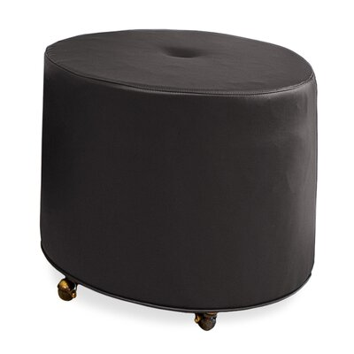 Mondo 24 Upholstered Round 1-Button Ottoman Upholstery: Dark Ash