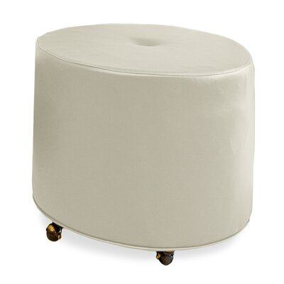 Mondo 24 Upholstered Round 1-Button Ottoman Upholstery: Cream