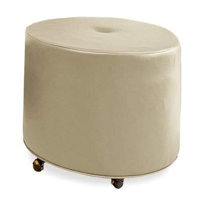 Mondo Upholstered Round 1-Button Ottoman Upholstery: Beige