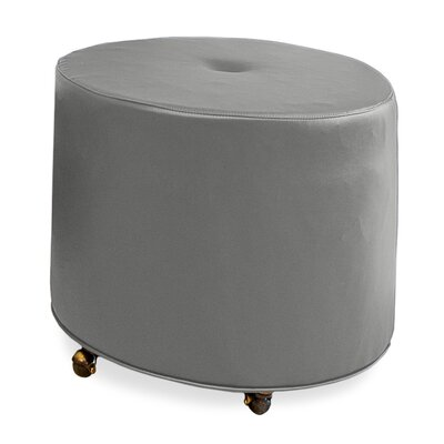 Mondo Upholstered Round 1-Button Ottoman Upholstery: Pewter