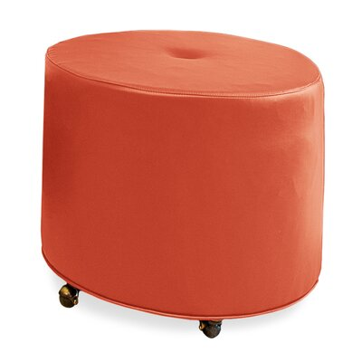 Mondo 24 Upholstered Round 1-Button Ottoman Upholstery: Tangelo