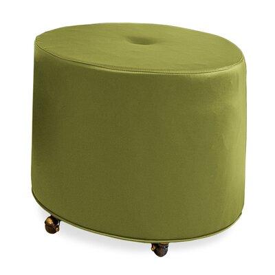Mondo Upholstered Round 1-Button Ottoman Upholstery: Grass