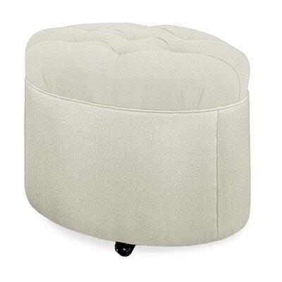 Mondo Tufted Round Ottoman Upholstery: Cream