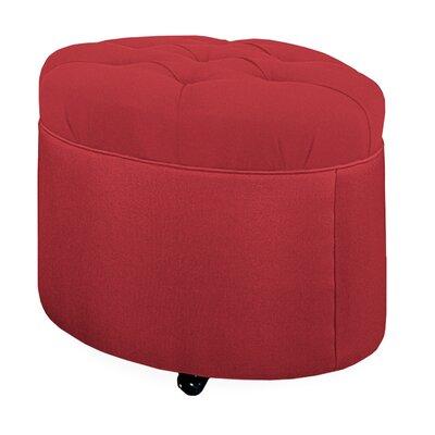 Mondo Tufted Round Ottoman Upholstery: Cherry