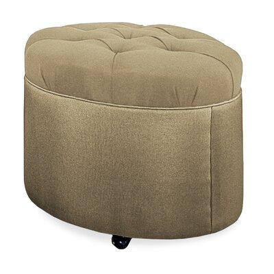 Mondo Tufted Round Ottoman Upholstery: Stone