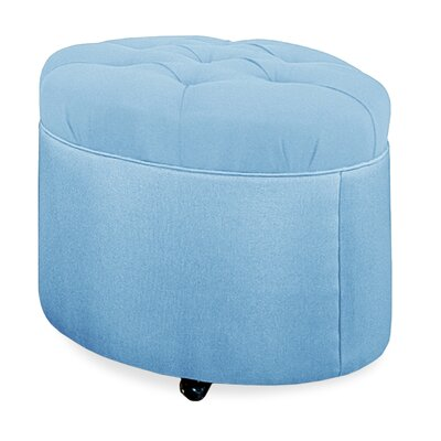 Mondo 24 Tufted Round Ottoman Upholstery: Sky
