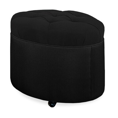 Mondo 24 Tufted Round Ottoman Upholstery: Onyx