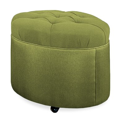Mondo Tufted Round Ottoman Upholstery: Grass