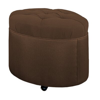 Mondo Tufted Round Ottoman Upholstery: Chocolate