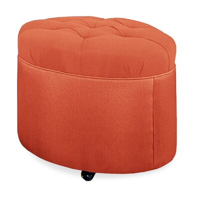 Mondo Tufted Round Ottoman Upholstery: Tangelo