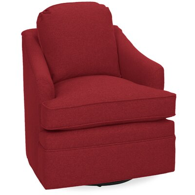 Quinn Swivel Armchair Upholstery: Cherry