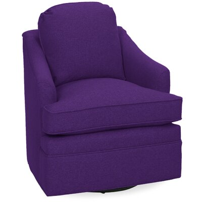 Quinn Swivel Lounge Chair Color: Eggplant