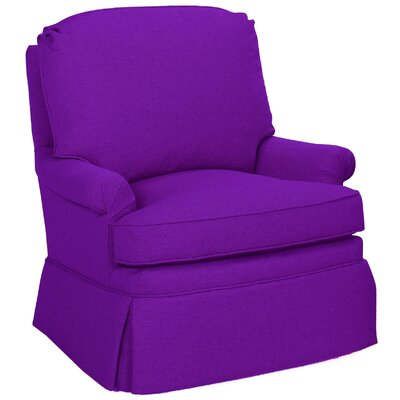 Luca Swivel Glider Armchair Color: Eggplant