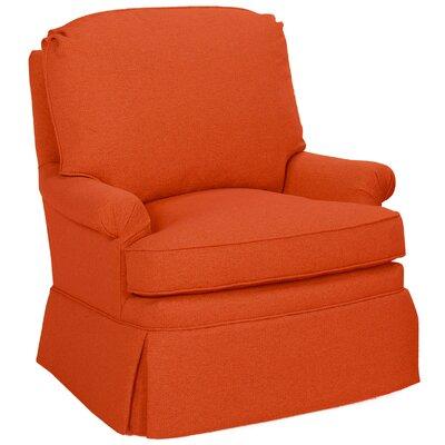 Luca Glider Swivel Armchair Upholstery: Tangelo