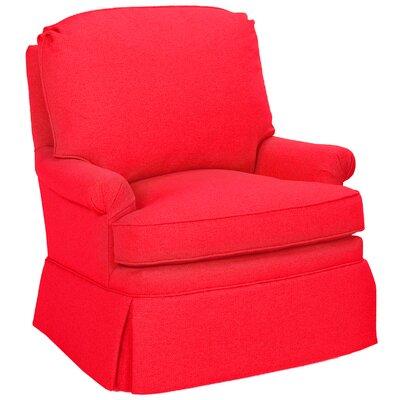Luca Glider Swivel Armchair Upholstery: Scarlet
