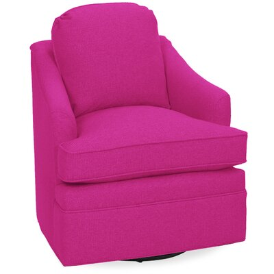 Quinn Swivel Lounge Chair Color: Fuchsia