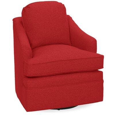 Quinn Swivel Armchair Upholstery: Scarlet