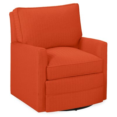 Sawyer Swivel Glider Armchair Color: Tangelo