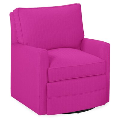 Sawyer Swivel Glider Armchair Color: Fuchsia