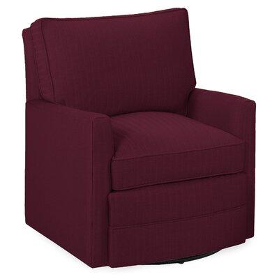 Sawyer Swivel Glider Arm Chair Color: Merlot