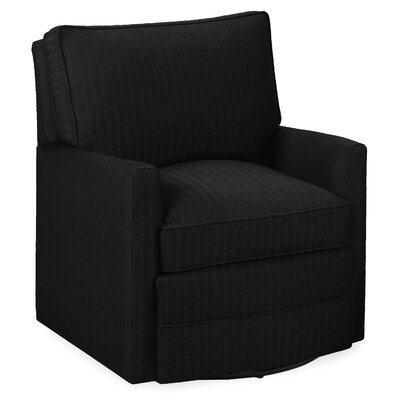 Sawyer Swivel Glider Armchair Color: Onyx