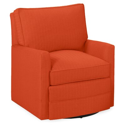 Sawyer Swivel Arm Chair Color: Tangelo