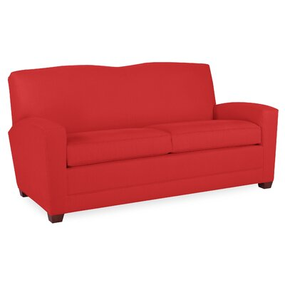 City Spaces Lexington Sofa Upholstery: Scarlet