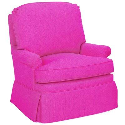 Luca Glider Swivel Armchair Upholstery: Fuchsia