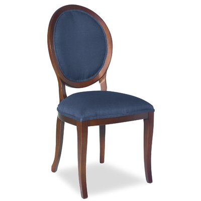 Divine Kayla Side Chair Upholstery: Me Navy