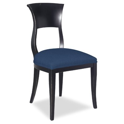 Divine Aaron Side Chair Upholstery: Me Navy