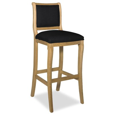 Divine 36.5 Bar Stool Upholstery: Found Black