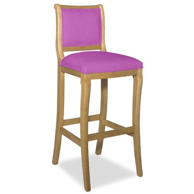 Divine 36.5 Bar Stool Upholstery: Found Radiant Orchid