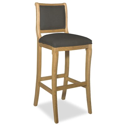 Divine 36.5 Bar Stool Upholstery: Me Charcoal