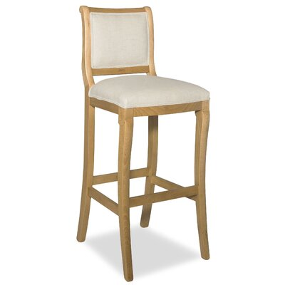 Divine 36.5 Bar Stool Upholstery: Me Cream