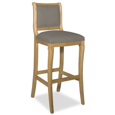 Divine 36.5 inch Bar Stool Upholstery: Me Gravel