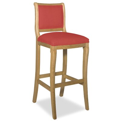 Divine 36.5 Bar Stool Upholstery: Me Ruby