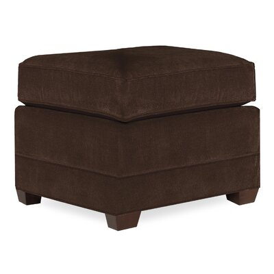 City Spaces Upholstered Club Ottoman Upholstery: Chocolate