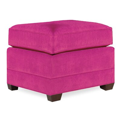 City Spaces Upholstered Club Ottoman Upholstery: Fuchsia