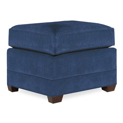 City Spaces Upholstered Club Ottoman Upholstery: Navy