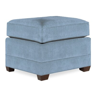 City Spaces Upholstered Club Ottoman Upholstery: Sky
