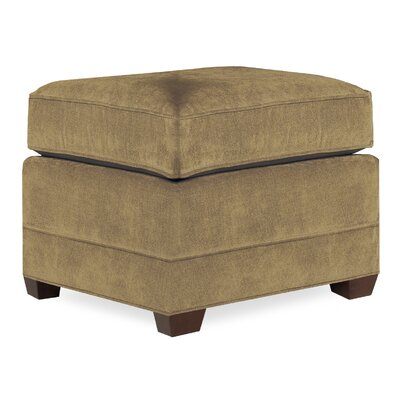 City Spaces Upholstered Club Ottoman Upholstery: Stone