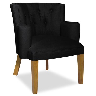 Divine Ginny Arm Chair Upholstery: Found Black