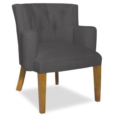 Divine Ginny Arm Chair Upholstery: Me Charcoal