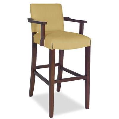 Divine Bar Stool Upholstery: Found Old Gold