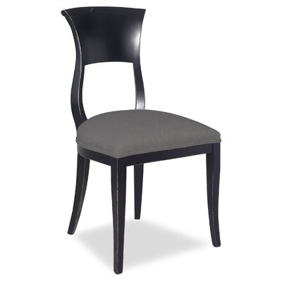 Divine Aaron Side Chair Upholstery: Me Charcoal