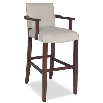 Divine Bar Stool Upholstery: Me Cream