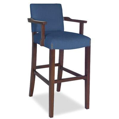 Divine Bar Stool Upholstery: Me Navy
