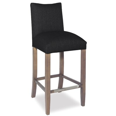 Divine Bar Stool Upholstery: Found Black