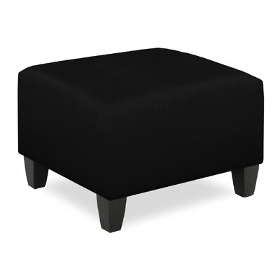 City Spaces Upholstered Club Ottoman Upholstery: Onyx